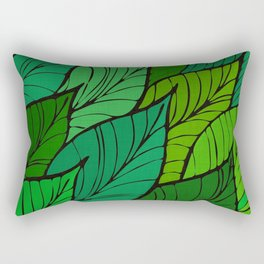 Lush / Leaf Pattern Rectangular Pillow