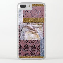 purple texture and Doodle Clear iPhone Case