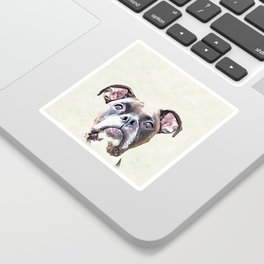 Brindle Boxer Dog Sticker
