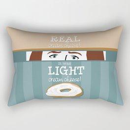 Real Cream Cheese Rectangular Pillow