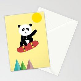Panda on a skateboard Stationery Cards