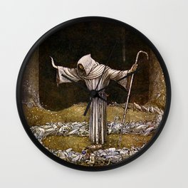 """""""Brother Martin"""" Watercolor by John Bauer Wall Clock"""