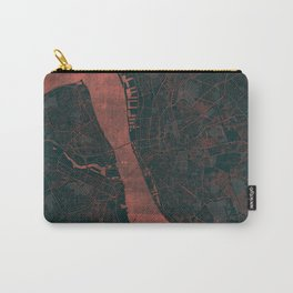 Liverpool Map Red Carry-All Pouch