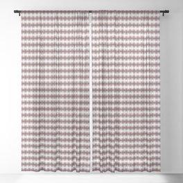 Pantone Red Pear Blurred Horizontal Lines Symmetrical Pattern Sheer Curtain