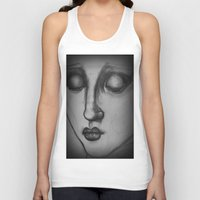 madonna Tank Tops featuring The Madonna by Sarah Mary Street