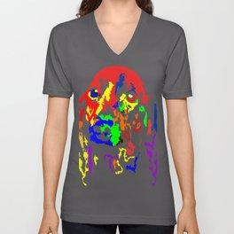 Colorful Dachshund 2018 Modern Fashion Gift Idea Unisex V-Neck
