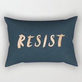 RESIST 7.0 - Rose Gold on Navy #resistance Rectangular Pillow