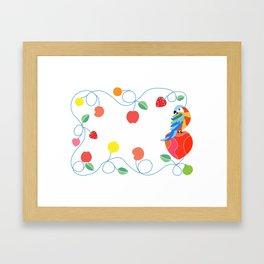 Kitchen hybrid macaw Framed Art Print
