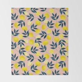 Lemony Goodness Throw Blanket
