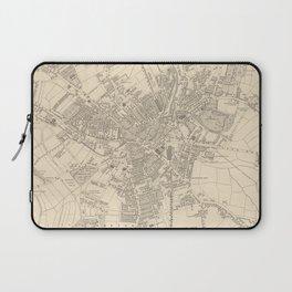 Vintage Map of Bradford England (1851) Laptop Sleeve