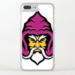 Wizard Head Front Mascot Clear iPhone Case