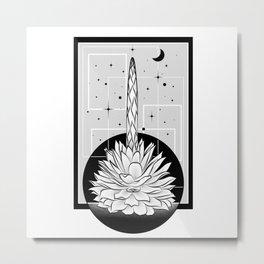 Plant Agave Tobala Metal Print
