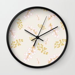 Garden Swirl Collection - Pink & Yellow Bouquet Bits Wall Clock
