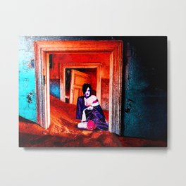 The Woman in the Dunes Metal Print