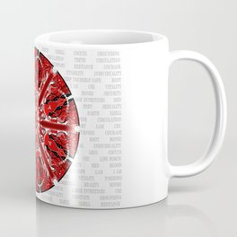 Root Chakra Mandala with Text Coffee Mug