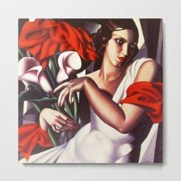 Classical Masterpiece 'Portrait D'ira' by Tamara de Lempicka Metal Print