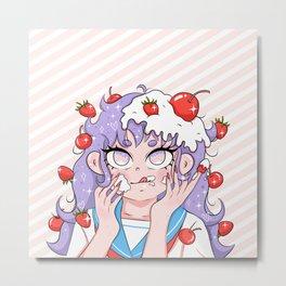 Strawberrys & Cherrys Metal Print