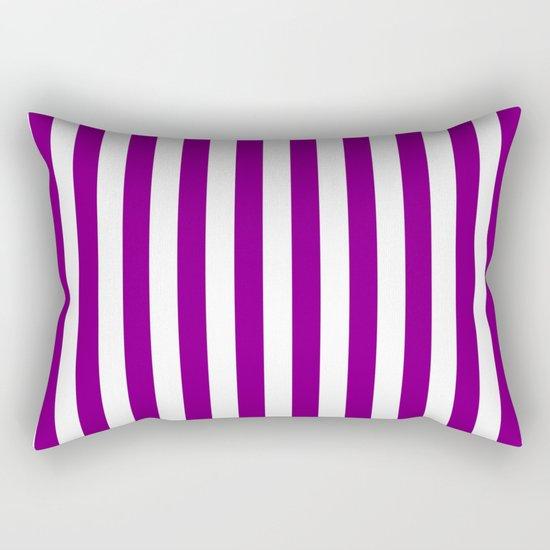 Vertical Stripes (Purple/White) Rectangular Pillow