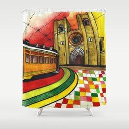 Lisbon 28 Shower Curtain