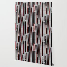 Off the Grid - Abstract - Gray, Black, Red Wallpaper