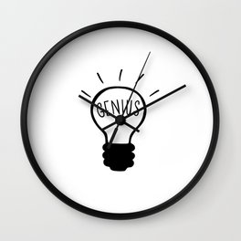 Light bulb in black and white Wall Clock