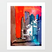 hong kong Art Prints featuring Hong Kong by Jonas Ericson