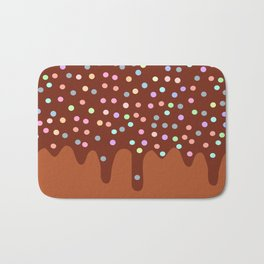 Dripping Melted chocolate Glaze with sprinkles Bath Mat