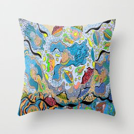 Supersonic Angel Mermaids Throw Pillow
