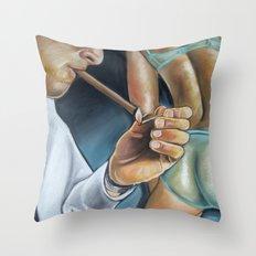 CIGAR BUTT Throw Pillow