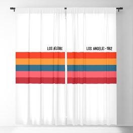LOS ANGELES - 1982, Retro Print, Color Print, Wall Art, Color Art, Art Print, Modern Vintage, Retro Blackout Curtain