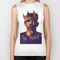kendrick lamar Biker Tanks featuring King Kendrick by GerritakaJey