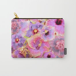 Tropical hibiscus patterns Flower Floral Flowers Carry-All Pouch