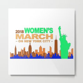Women's March 2018 Metal Print