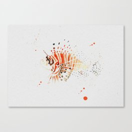 Lionfish in Ink Canvas Print