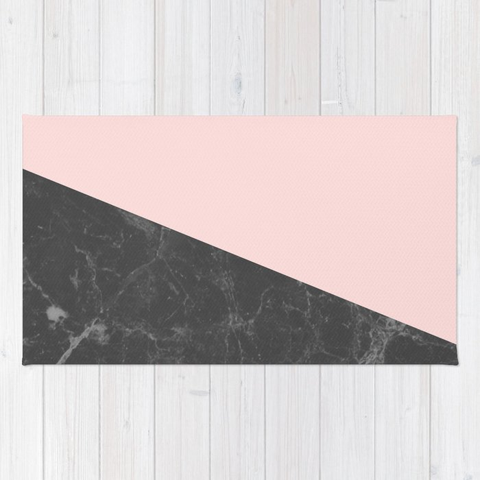 pink and black rug. Marble Geometric Blush Pink Gray Black Rug And O