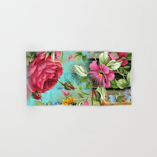 Vintage flowers #11 Hand & Bath Towel