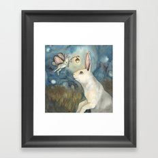 Night Bunny Fairy Framed Art Print