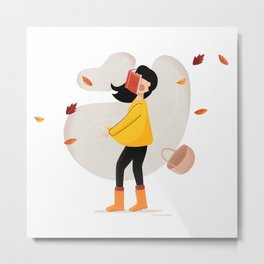 Funny Autumn Wind Metal Print