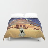 pyramid Duvet Covers featuring Pyramid by Cs025