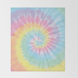Pastel Tie Dye Throw Blanket