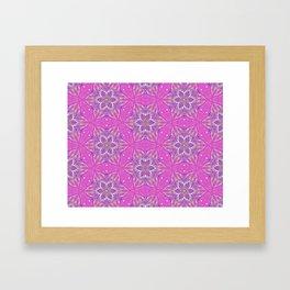 Violet stars Pattern Framed Art Print