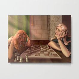 Afternoon Chess Metal Print