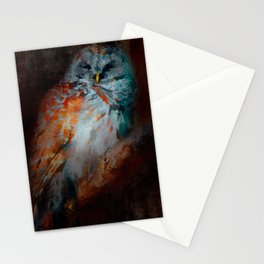 Abstract Barred Owl Stationery Cards