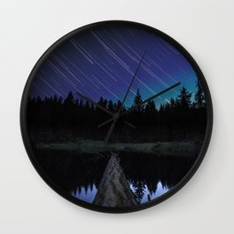 Lost Lake Star Trail Wall Clock