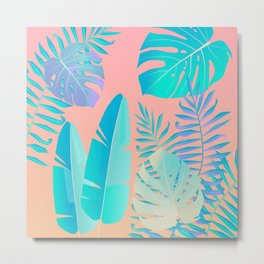 Tropics ( monstera and banana leaf pattern ) Metal Print