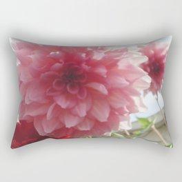 Pretty Pink Dahlia Ruffles Rectangular Pillow