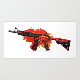 Cs:go : M4A4 Howl Art Print