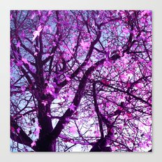 purple tree XXXII Canvas Print