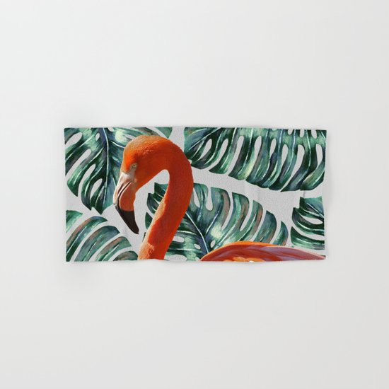 Flamingo Self Portrait #society6 #decor #buyart Hand & Bath Towel