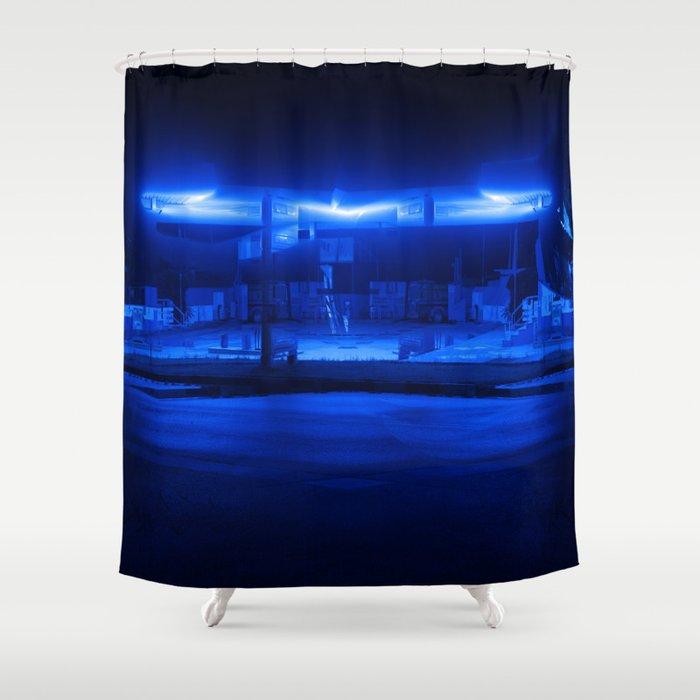 Scifi Gas Station Shower Curtain By Orfeasmandas Society6